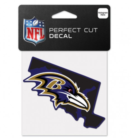 "WINCRAFT Baltimore Ravens 4"" x 4"" State Shaped Perfect Cut Decals"