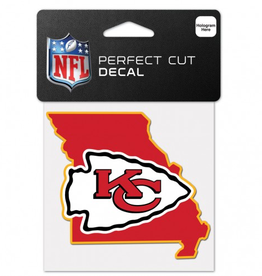 "WINCRAFT Kansas City Chiefs 4"" x 4"" State Shaped Perfect Cut Decals"
