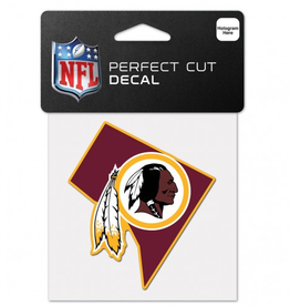 "WINCRAFT Washington Redskins 4"" x 4"" State Shaped Perfect Cut Decals"