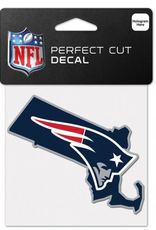 "WINCRAFT New England Patriots 4"" x 4"" State Shaped Perfect Cut Decals"