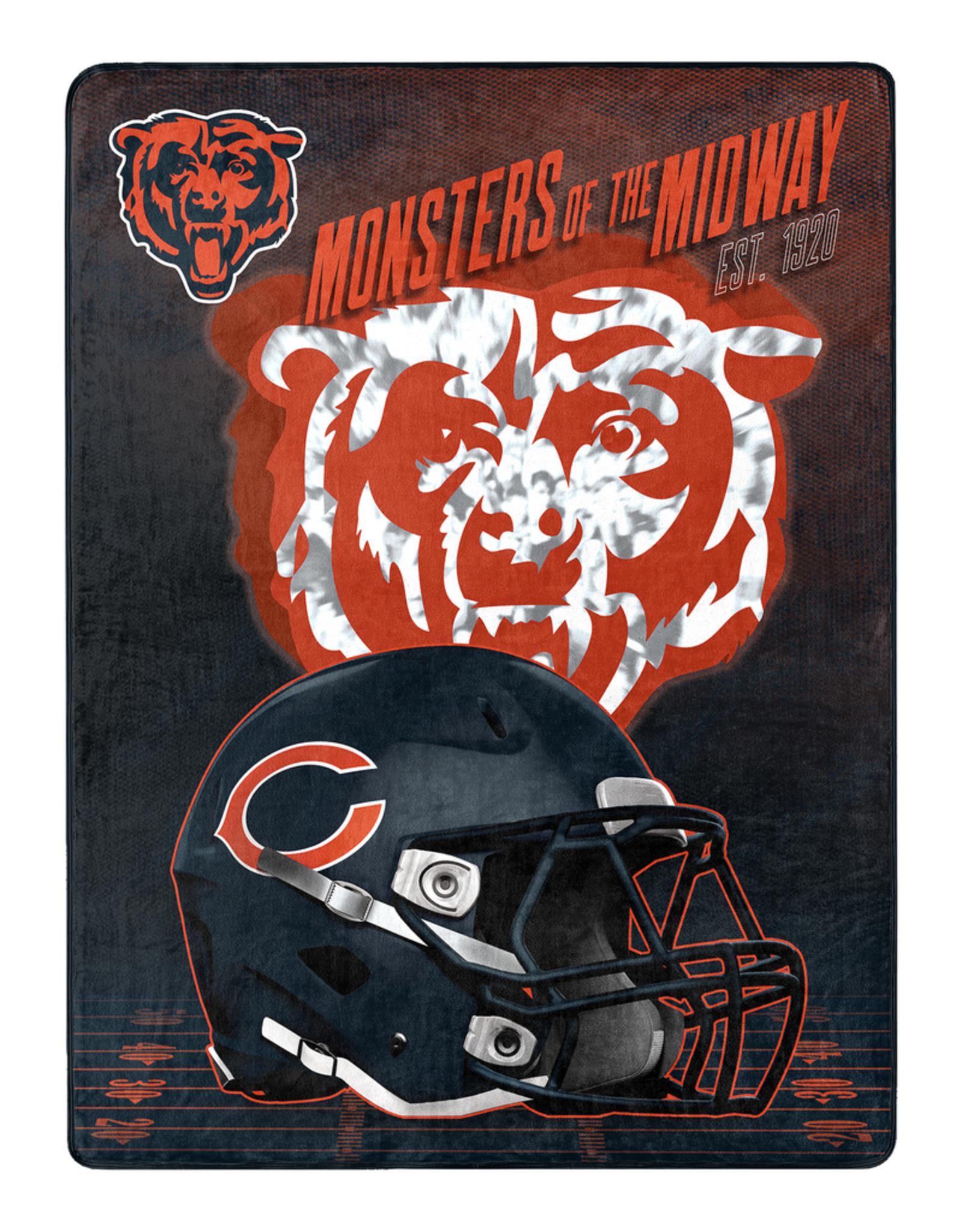 """NORTHWEST Chicago Bears 60""""x80"""" Silk Touch State Pride Throw Blanket"""
