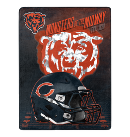 "NORTHWEST Chicago Bears 60""x80"" Silk Touch State Pride Throw Blanket"