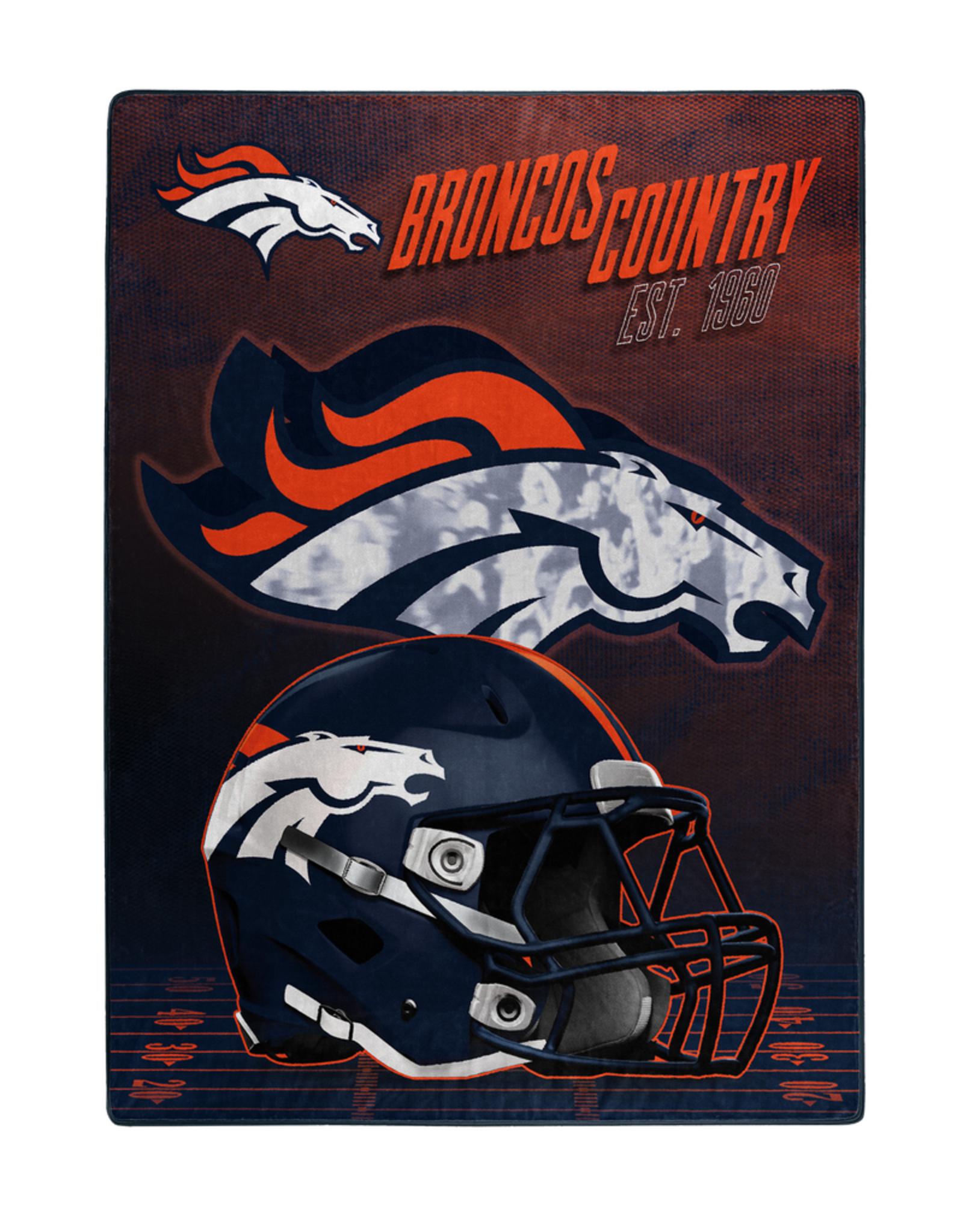 """NORTHWEST Denver Broncos 60""""x80"""" Silk Touch State Pride Throw Blanket"""