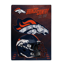 "NORTHWEST Denver Broncos 60""x80"" Silk Touch State Pride Throw Blanket"