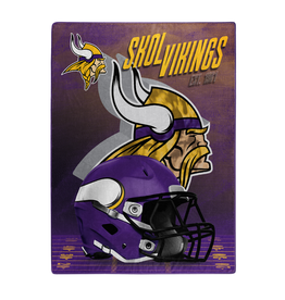 "NORTHWEST Minnesota Vikings 60""x80"" Silk Touch State Pride Throw Blanket"