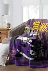 "NORTHWEST Minnesota Vikings 60""x80"" Silk Touch State Pride Throw Blanket"
