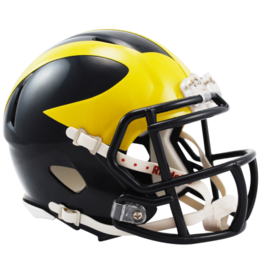 RIDDELL Michigan Wolverines Mini Speed Helmet