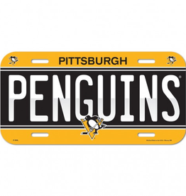 WINCRAFT Pittsburgh Penguins Plastic License Plate