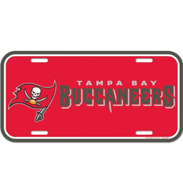WINCRAFT Tampa Bay Buccaneers Plastic License Plate