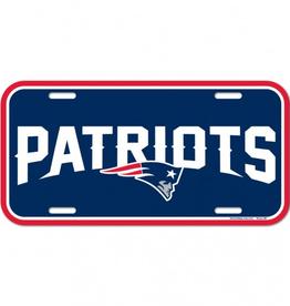 WINCRAFT New England Patriots Plastic License Plate