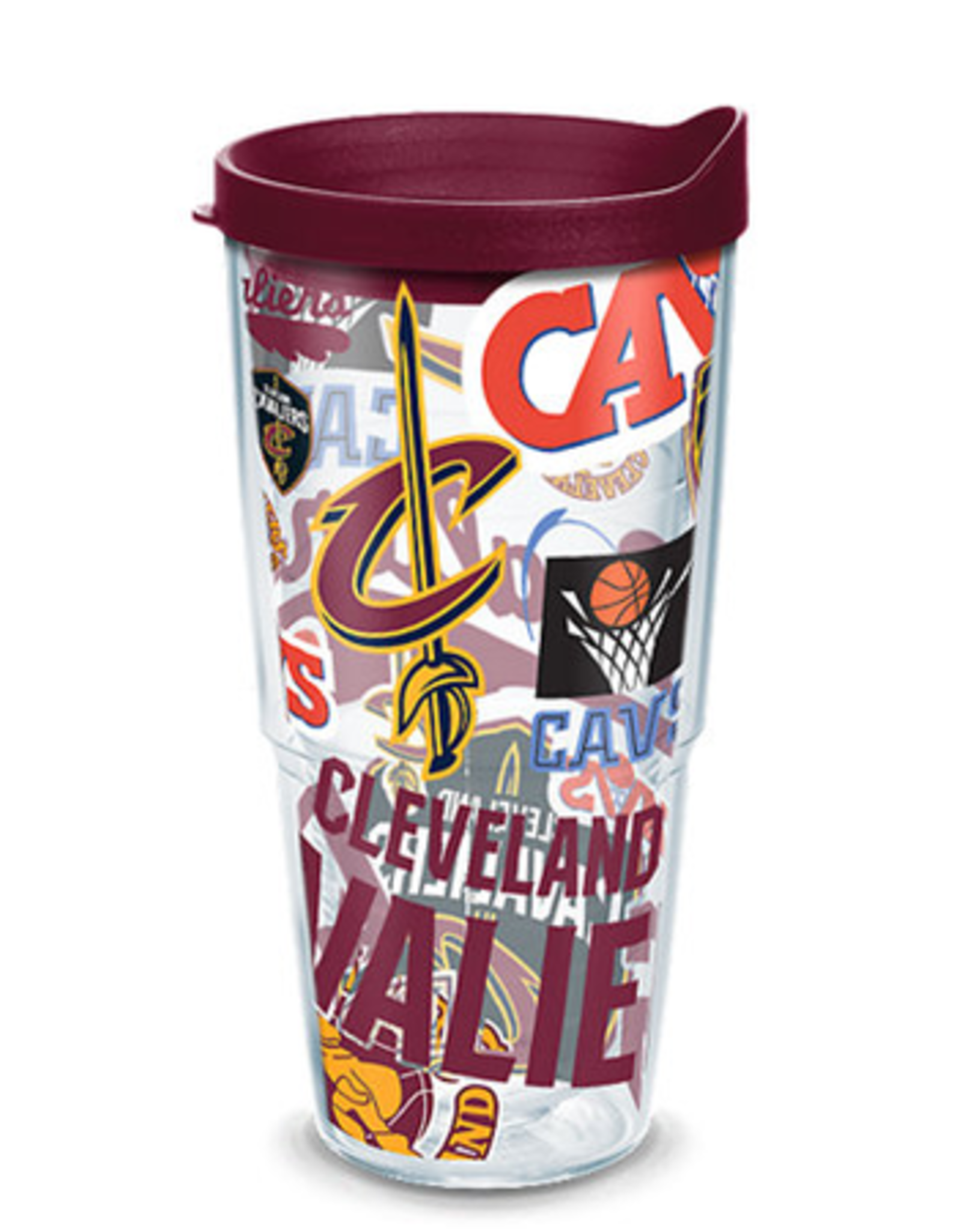 TERVIS Cleveland Cavaliers 24oz Tervis All Over Print Tumbler