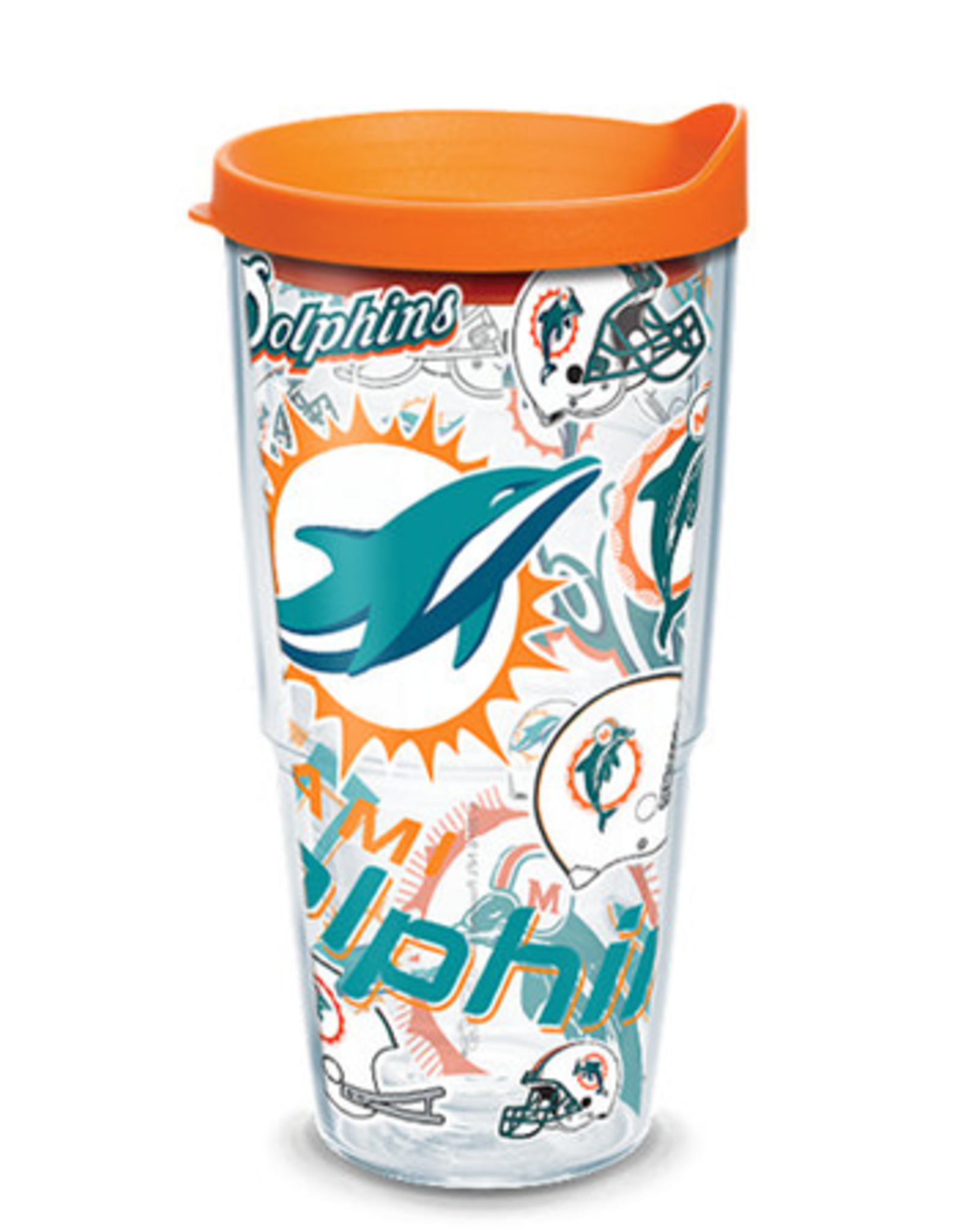 TERVIS Miami Dolphins 24oz Tervis All Over Print Tumbler