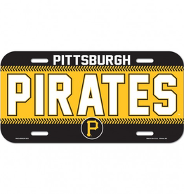WINCRAFT Pittsburgh Pirates Plastic License Plate