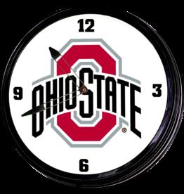 GRIMM INDUSTRIES Ohio State Buckeyes Team Spirit Illuminated Wall Clock