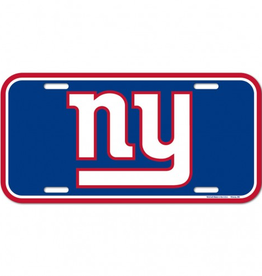 WINCRAFT New York Giants Plastic License Plate