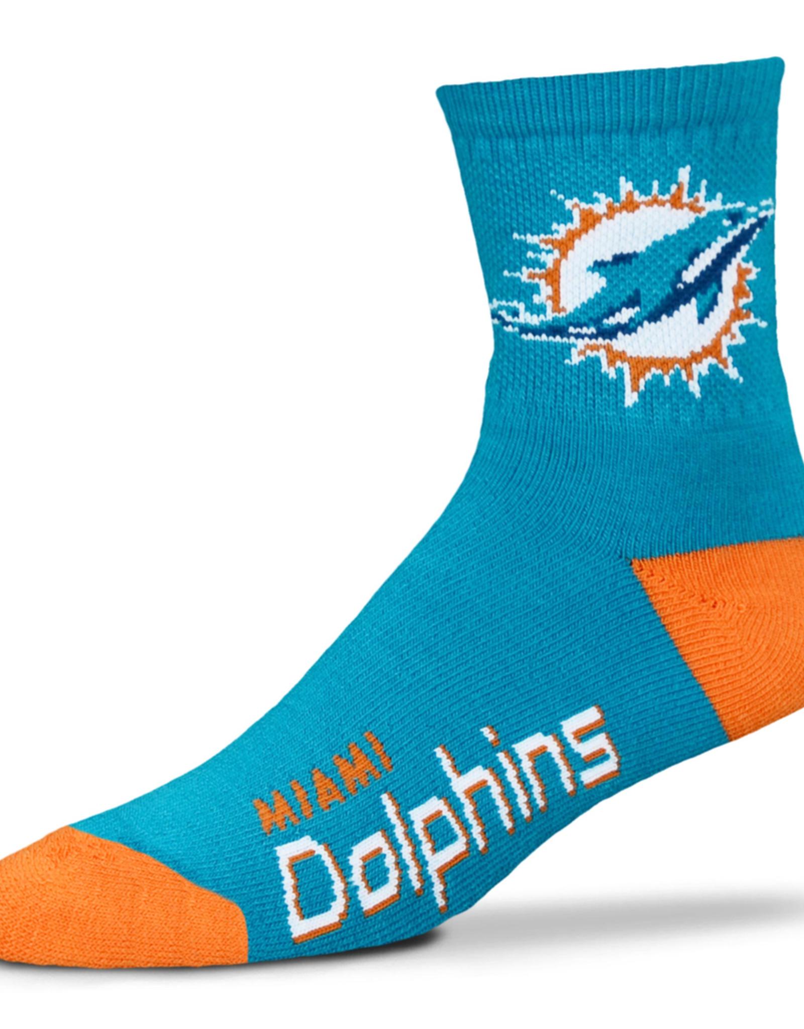 FOR BARE FEET Miami Dolphins Men's Team Socks