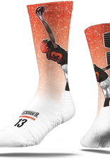 STRIDELINE Cleveland Browns Odell Beckham, Jr. Strideline Catch White Player Crew Socks