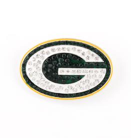 Green Bay Packers Crystal Logo Pin