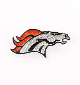 Denver Broncos Crystal Logo Pin