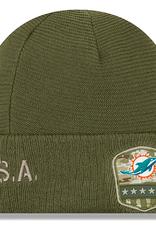 NEW ERA Miami Dolphins New Era NFL 2019 Salute to Service Cuffed Knit Hat