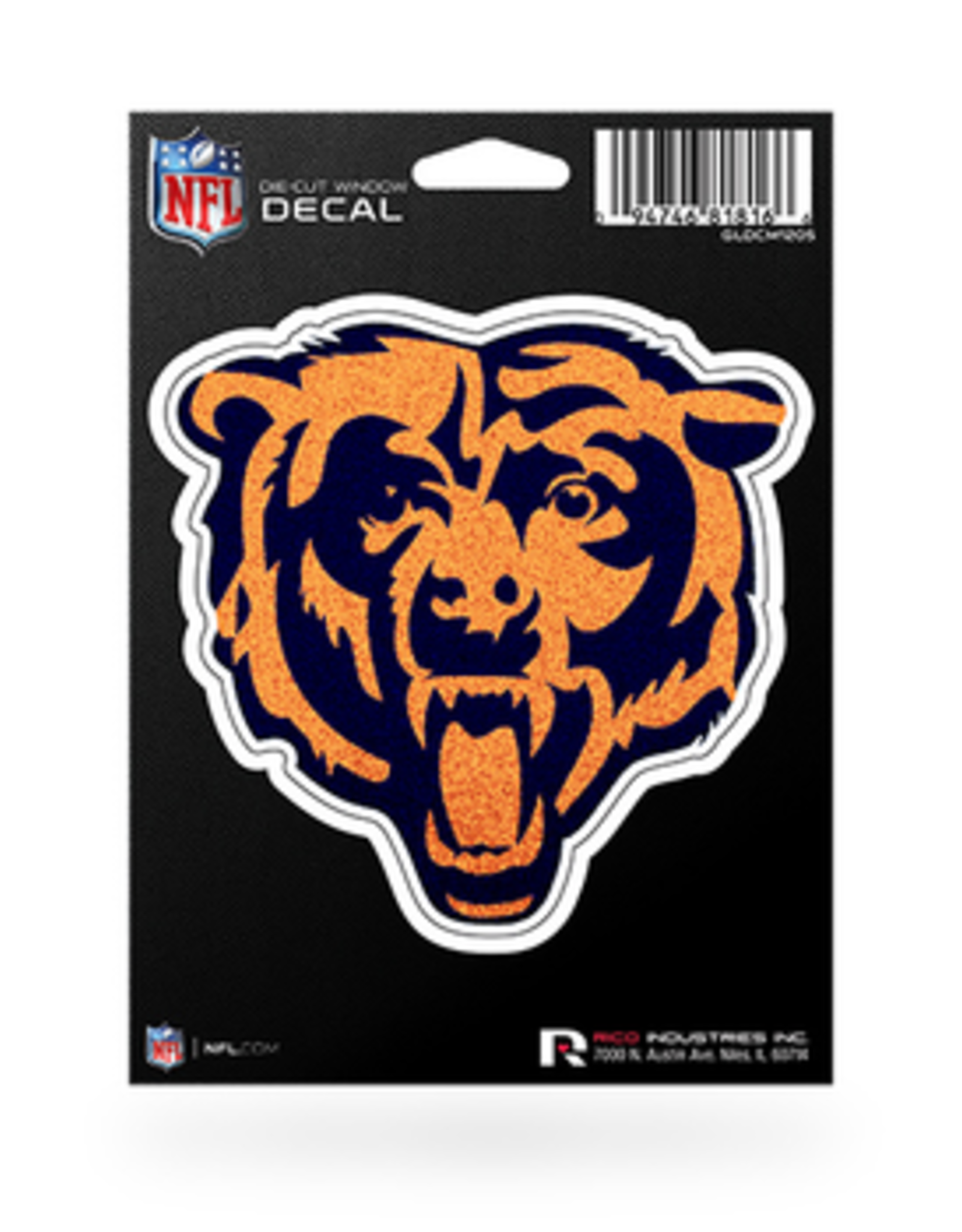 RICO INDUSTRIES Chicago Bears Die Cut Bling Decal