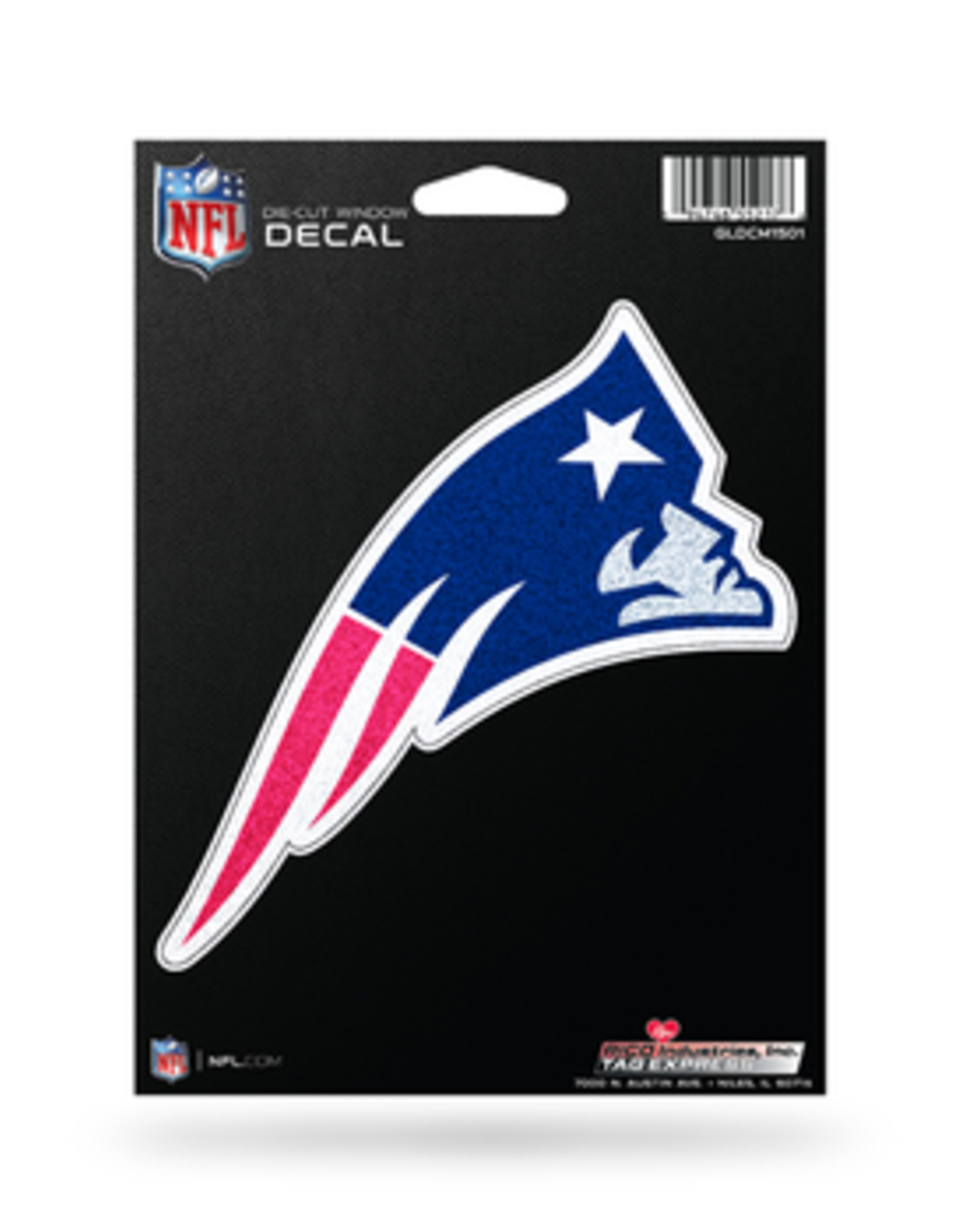 RICO INDUSTRIES New England Patriots Die Cut Bling Decal