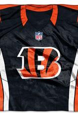 """Cincinnati Bengals 50in x 60in NFL """"Jersey"""" Royal Plush Raschel Throw"""