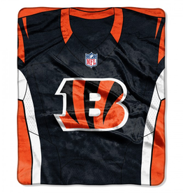 "Cincinnati Bengals 50in x 60in NFL ""Jersey"" Royal Plush Raschel Throw"