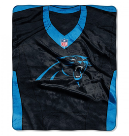 "Carolina Panthers 50in x 60in NFL ""Jersey"" Royal Plush Raschel Throw"