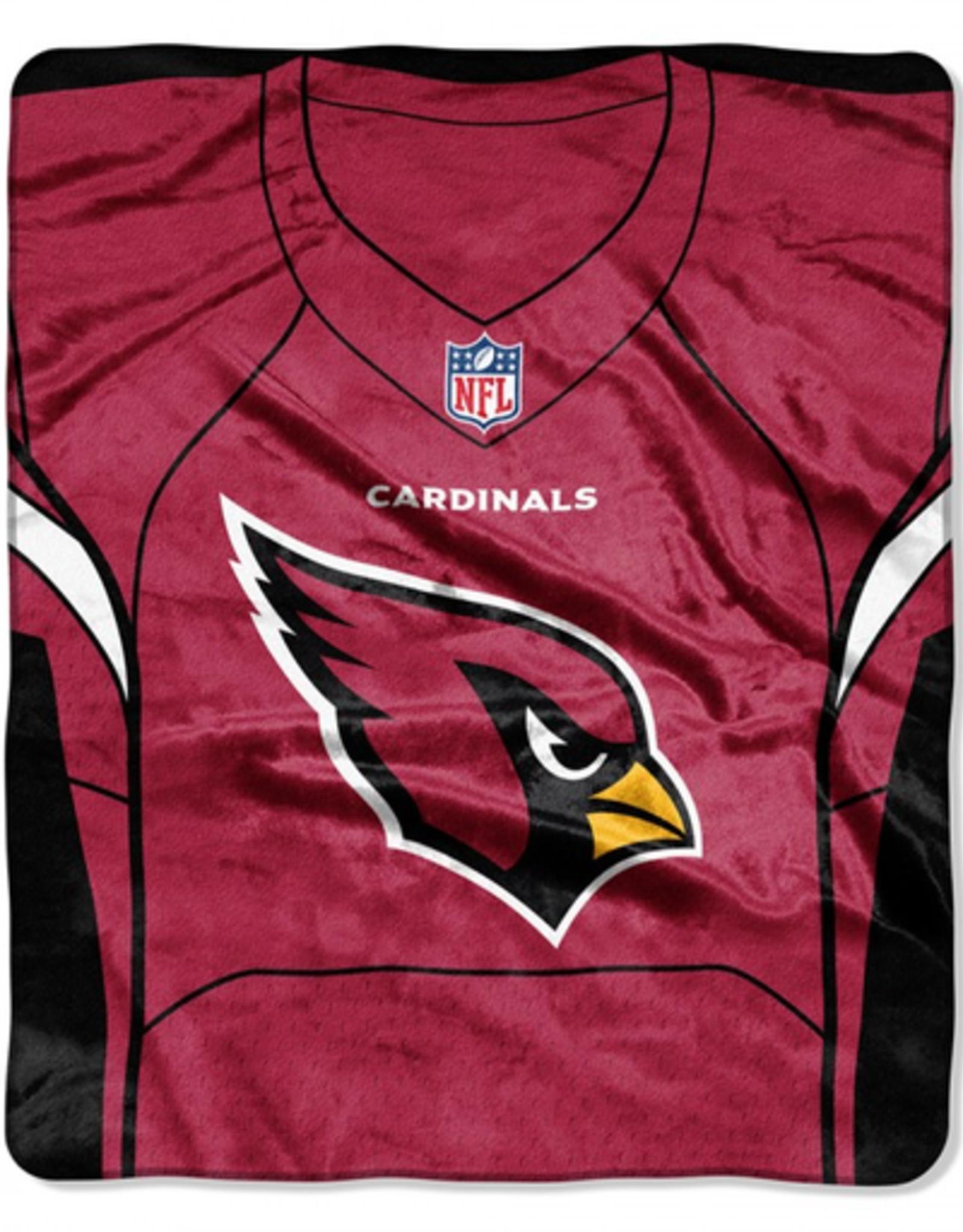 "Arizona Cardinals 50in x 60in NFL ""Jersey"" Royal Plush Raschel Throw"
