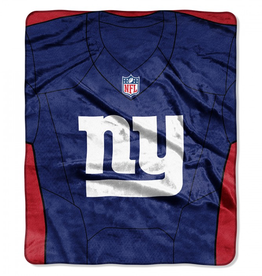 "New York Giants 50in x 60in NFL ""Jersey"" Royal Plush Raschel Throw"