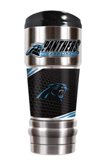 GREAT AMERICAN PRODUCTS Carolina Panthers 18oz Stainless Steel MVP Tumbler