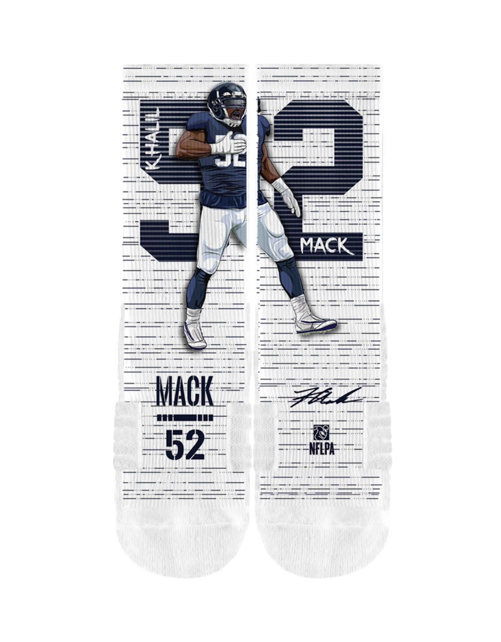 STRIDELINE Chicago Bears Khalil Mack Strideline Player Celebration Performance Crew Socks