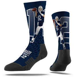 STRIDELINE New England Patriots Tom Brady Strideline Player Socks - FINAL SALE