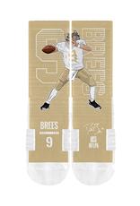 STRIDELINE New Orleans Saints Drew Brees Strideline Player Performance Crew Socks
