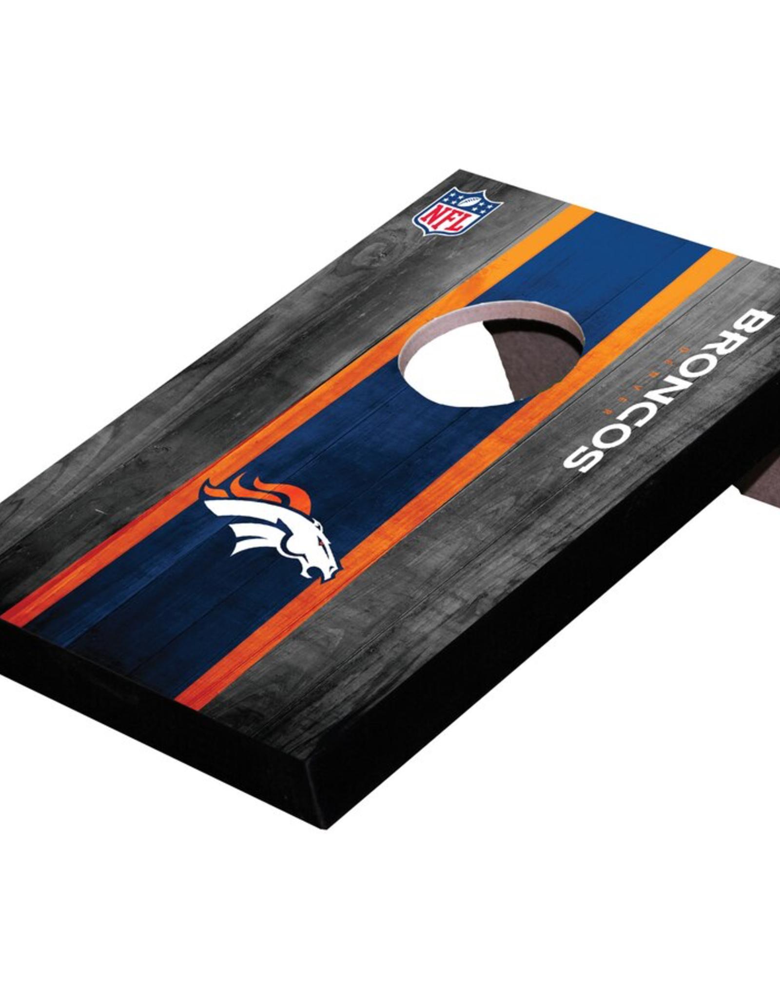 WILD SPORTS Denver Broncos Mini Tabletop Cornhole Board