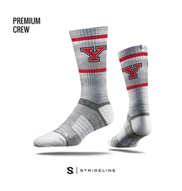 STRIDELINE Youngstown State Penguins Strideline Waves Logo Performance Crew Socks