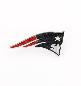 New England Patriots Crystal Logo Pin