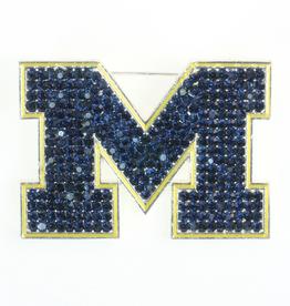 Michigan Wolverines Crystal Logo Pin