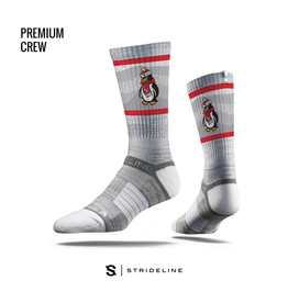 STRIDELINE Youngstown State Penguins Strideline Waves Mascot Performance Crew Socks