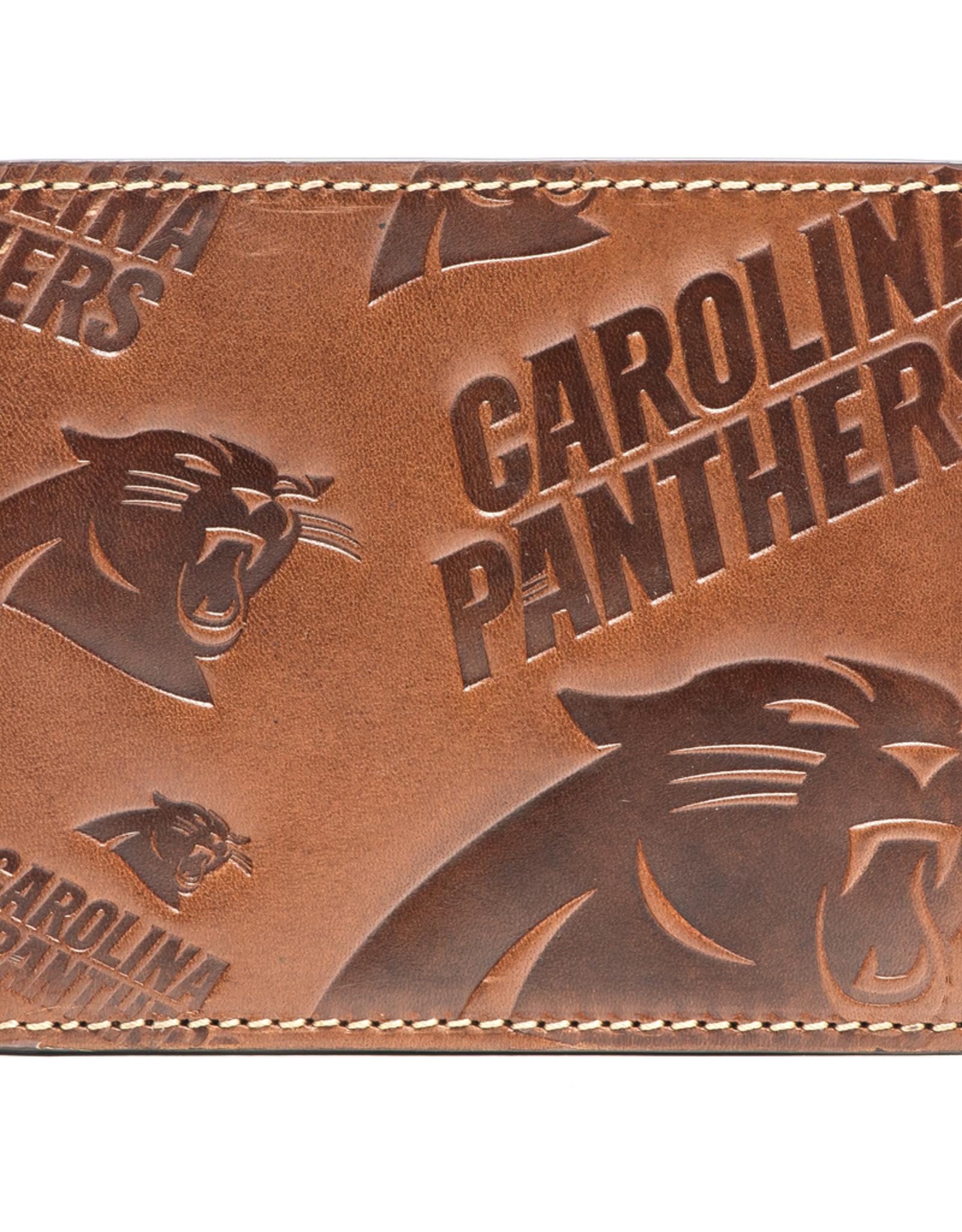 Carolina Panthers Jack Mason Sideline Traveler Embossed Bi-Fold Wallet