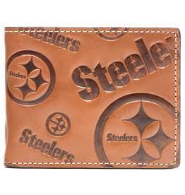 Pittsburgh Steelers Jack Mason Sideline Traveler Embossed Bi-Fold Wallet