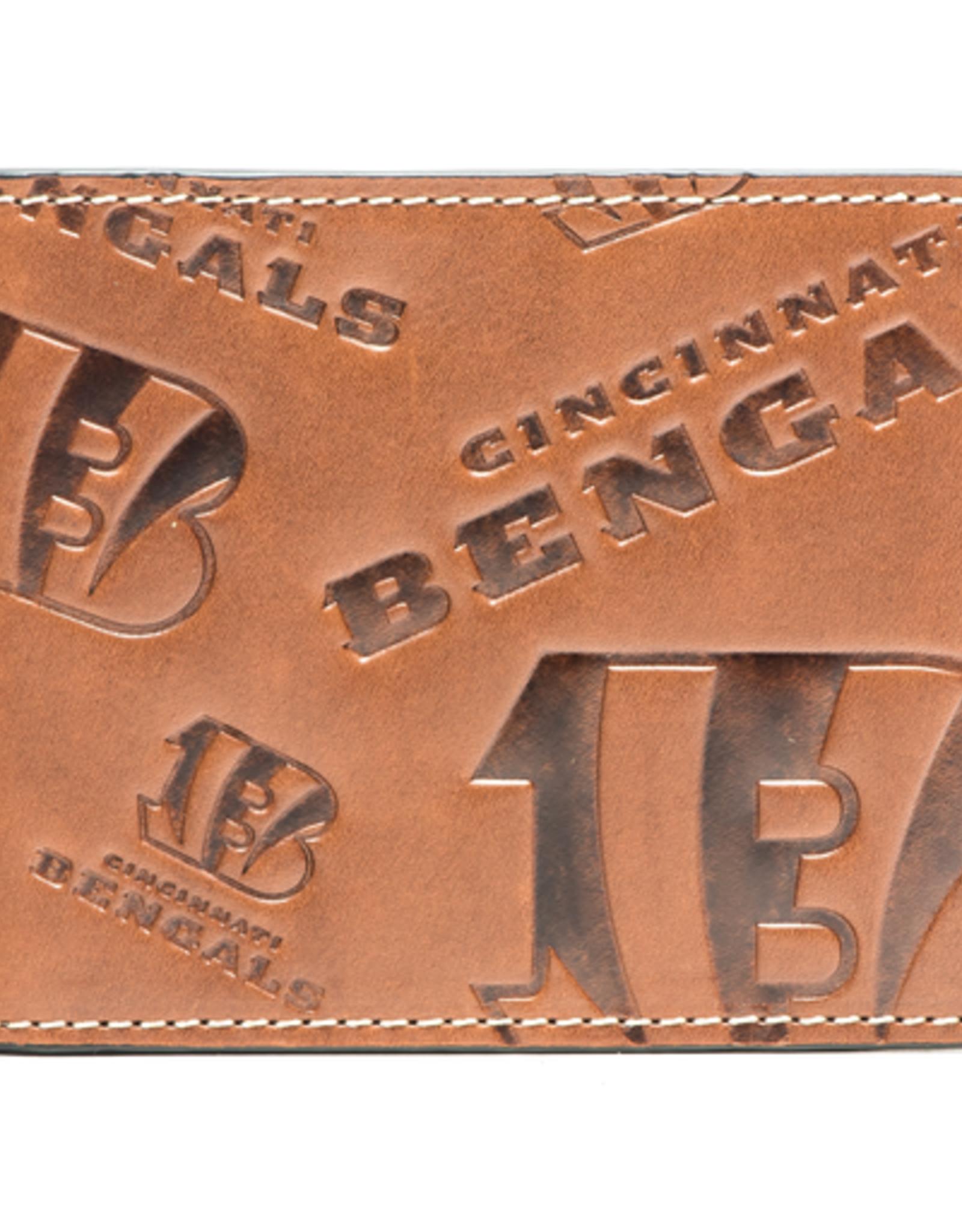 Cincinnati Bengals Jack Mason Sideline Traveler Embossed Bi-Fold Wallet