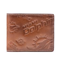 Miami Dolphins Jack Mason Sideline Traveler Embossed Bi-Fold Wallet