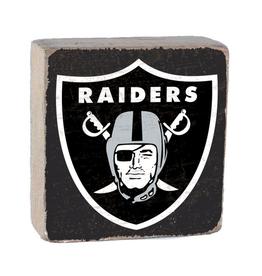 RUSTIC MARLIN Oakland Raiders Rustic Wood Team Block