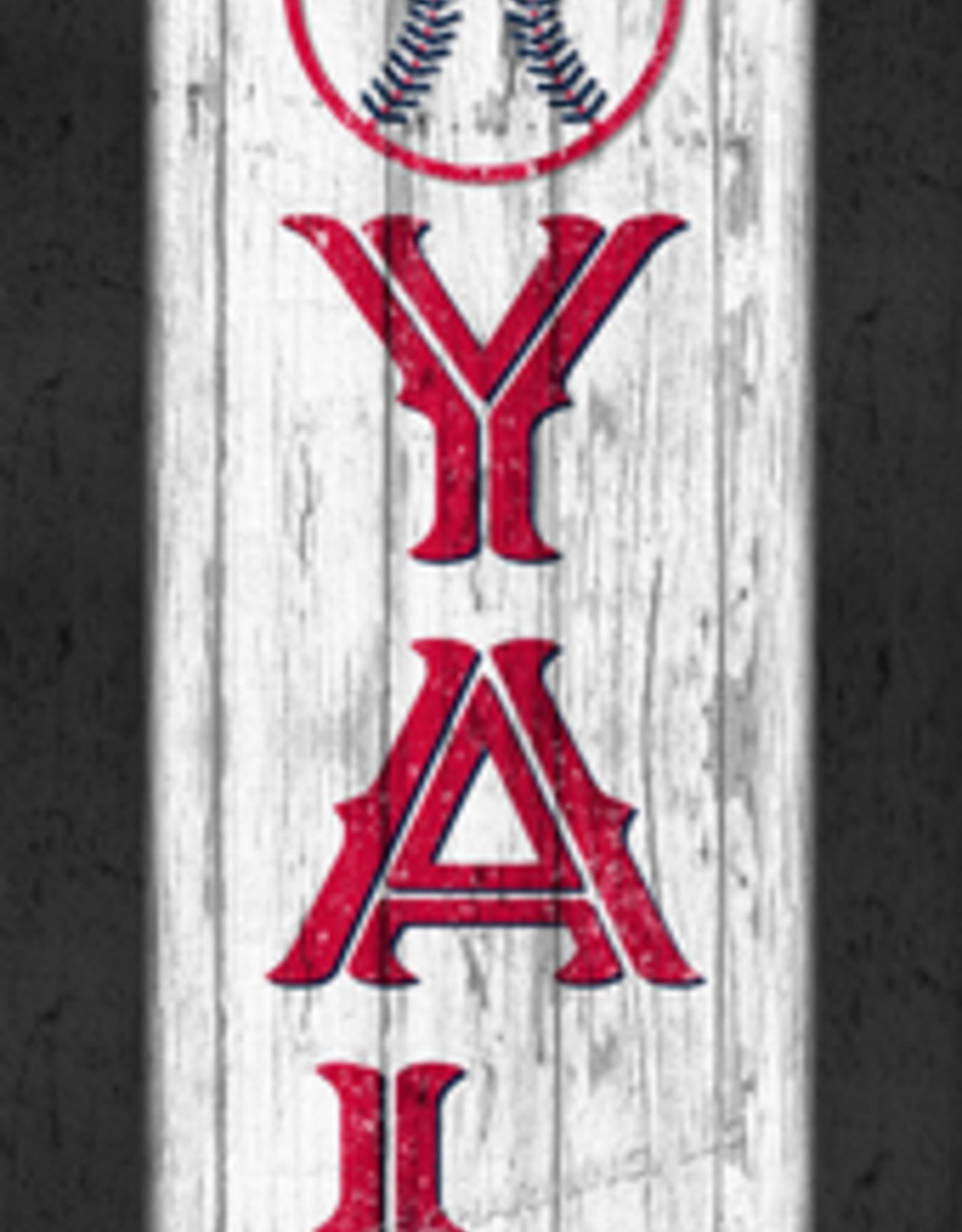 "PRINTS CHARMING Cleveland Indians ""LOYAL"" 8x24 Framed Print"