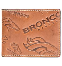 Denver Broncos Jack Mason Sideline Traveler Embossed Bi-Fold Wallet