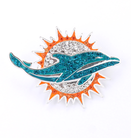 Miami Dolphins Crystal Logo Pin