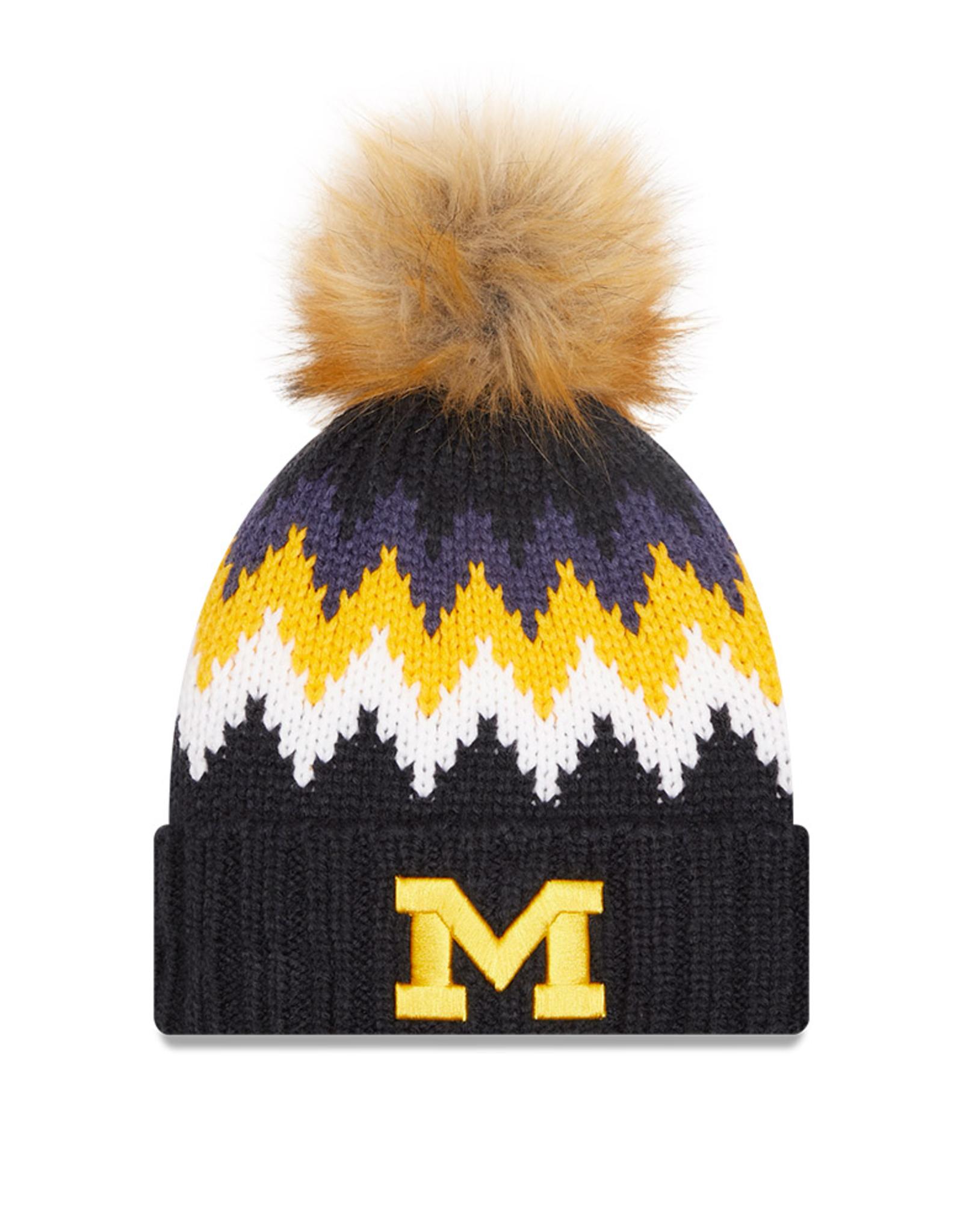 NEW ERA Michigan Wolverines New Era KnitGlacier Knit Hat