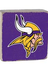 RUSTIC MARLIN Minnesota Vikings Rustic Wood Team Block